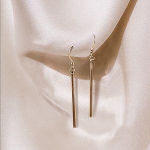 24k Gold Dipped Bar Earrings